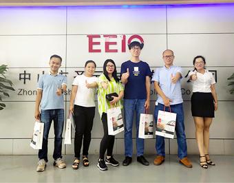 深圳客户来访圣元电器