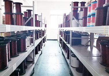 圣元环形变压器仓库铜线材料
