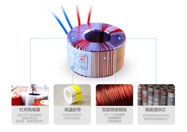 功放用全铜线环形电源变压器结构和材质示意图