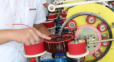 圣元环形变压器车间生产实况