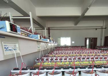 不同功率的环形变压器正在进行老化测试